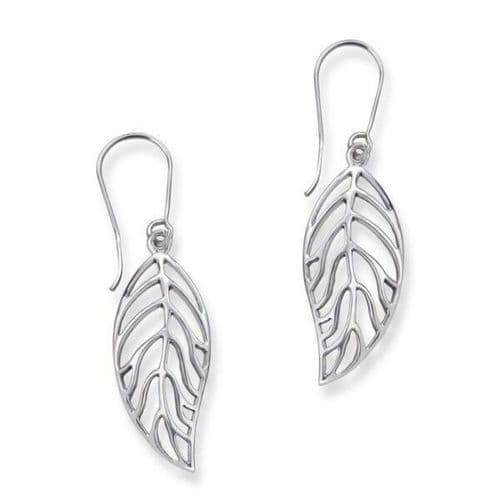 Outlander Inspired Scottish Autumn Leaf Shape Drop Style Pair Of Earrings